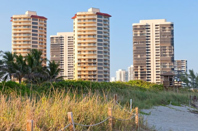 Riviera Beach and Residential View, Singer Island, Florida